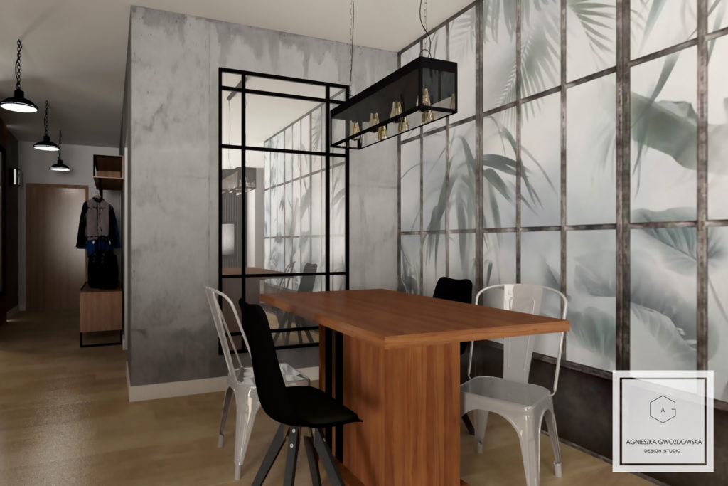home agnieszka gwozdowska design studio projektant wnetrz lodz salon industrialny (7)